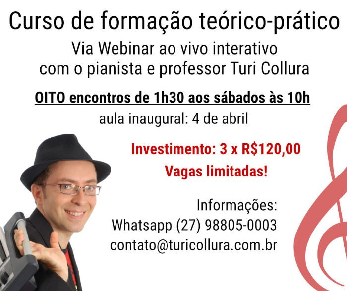 DIDATICA DO PIANO POPULAR WEBINAR AO VIVO